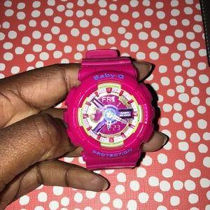 Hot Pink Baby-G Shock Watch